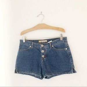 Vintage Shorts - Vintage Y2K button fly denim shorts small low rise